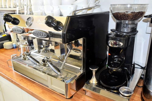 Shirley's Cafe bean-to-cup coffee machine
